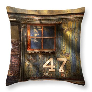 Train - A Door With Character Throw Pillow by Mike Savad