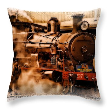 Train Art 3237 Throw Pillow by Kevin Chippindall