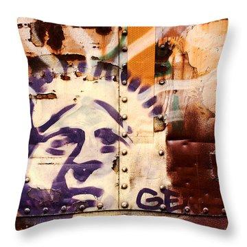 Train Art Statue Of Liberty Throw Pillow
