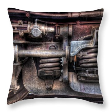 Train - Car - Springs And Things Throw Pillow by Mike Savad