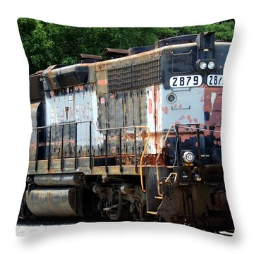 Train Engine #2879 Throw Pillow by Mark Moore