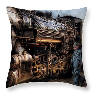 Train - Engine -  Now Boarding Throw Pillow