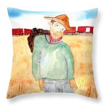 Train Escape Throw Pillow