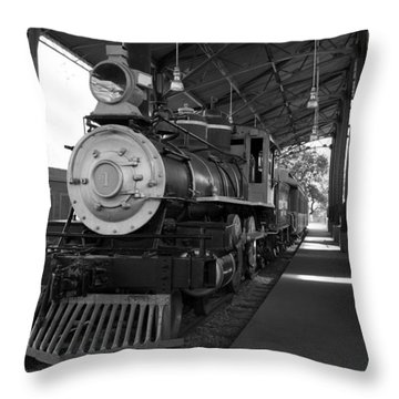 Train Throw Pillow by Gandz Photography