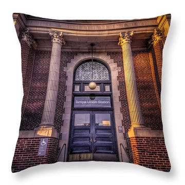 Train Gateway Throw Pillow by Marvin Spates