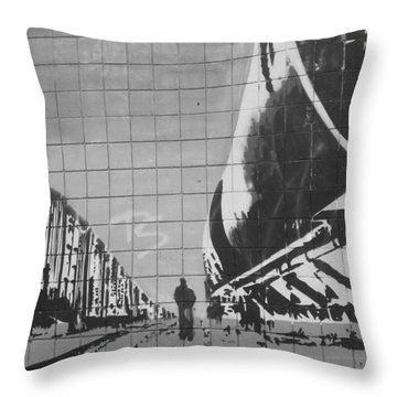 Train Graffiti  Throw Pillow