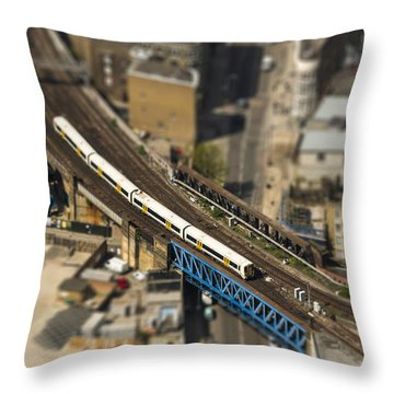 Train In London Throw Pillow