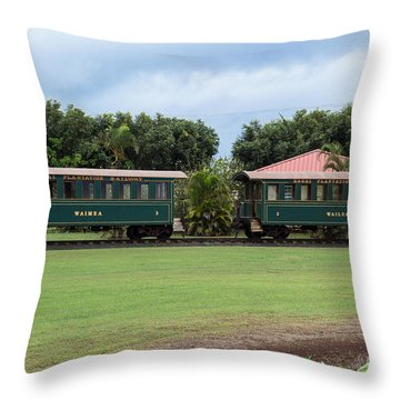 Throw Pillow featuring the photograph Train Lovers by Suzanne Luft