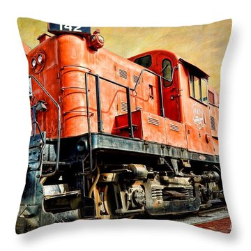 Train - Mkt 142 - Rs3m Emd Repowered Alco Throw Pillow by Liane Wright