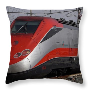 Train Out Of Rome Throw Pillow