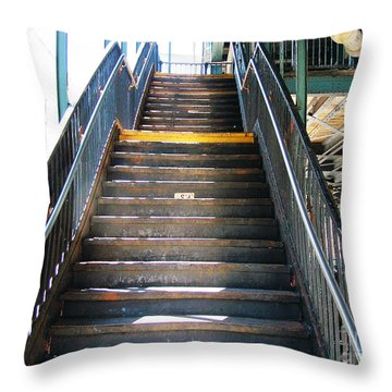 Train Staircase Throw Pillow
