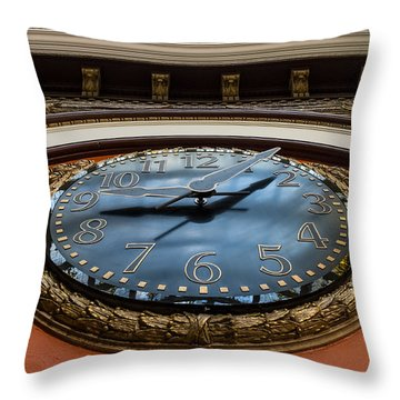 Train Time Throw Pillow