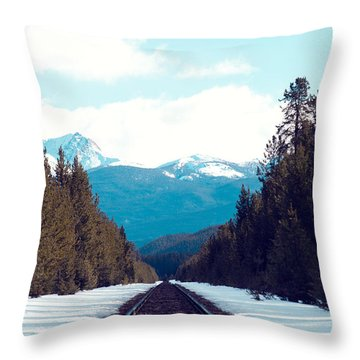 Throw Pillow featuring the photograph Train To Mountains by Kim Fearheiley