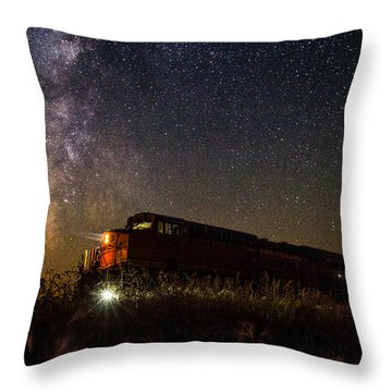 Train To The Cosmos Throw Pillow