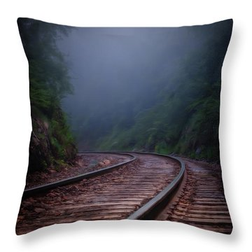 Train To Winslow Throw Pillow