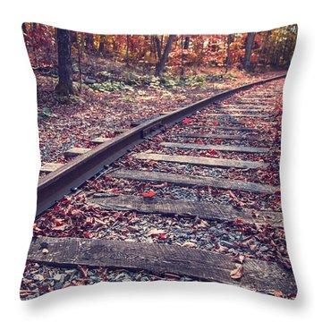 Train Tracks Throw Pillow by Edward Fielding