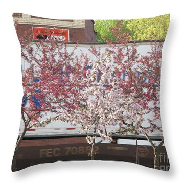 Throw Pillow featuring the photograph Train Tracks by Michael Krek