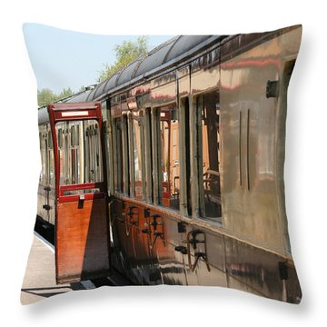Train Transport Throw Pillow