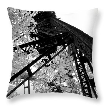 Train Trestle In The Woods 2.0 Throw Pillow