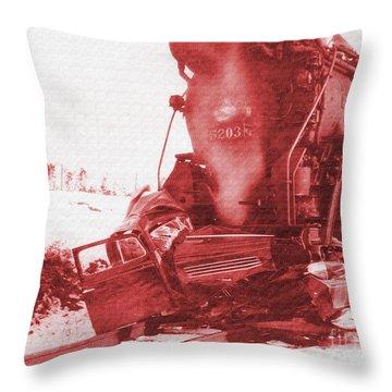 Train V Car Throw Pillow by R Muirhead Art