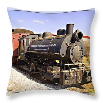 Train Throw Pillow by Walter Herrit