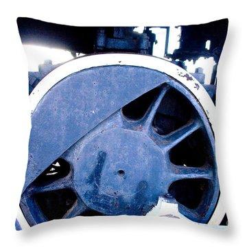 Train Wheel Throw Pillow by Thomas Marchessault