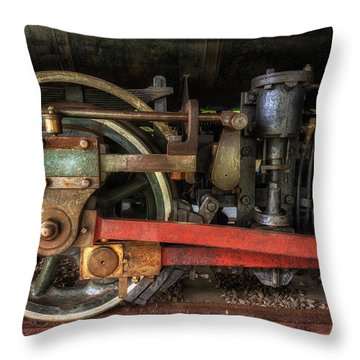 Train Wheels Throw Pillow