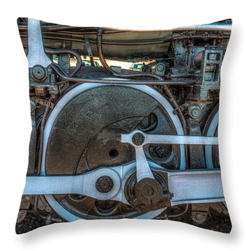 Train Wheels Throw Pillow by Paul Freidlund