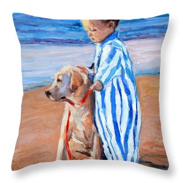 Training Day Throw Pillow by Molly Poole