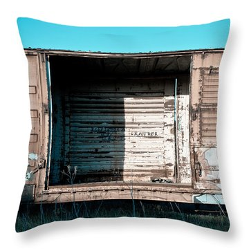Trains 15 Throw Pillow by Niels Nielsen