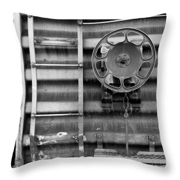 Trains 16 Throw Pillow by Niels Nielsen