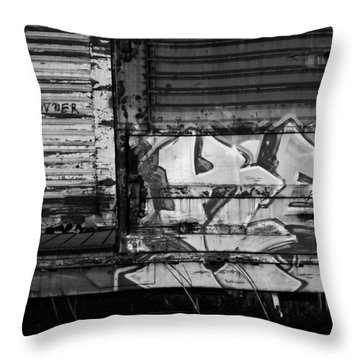 Trains 17 Throw Pillow by Niels Nielsen