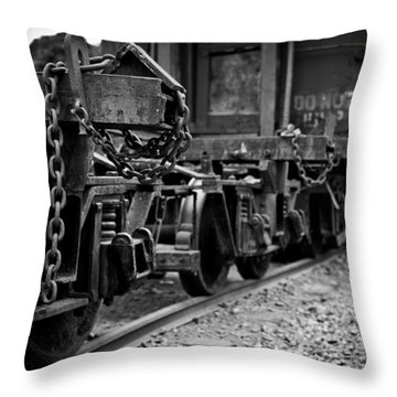 Trains 18 Throw Pillow by Niels Nielsen