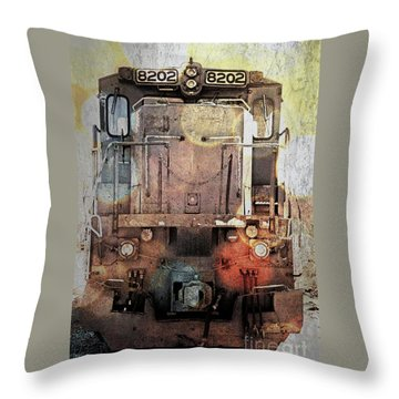 Trains At Rest Throw Pillow