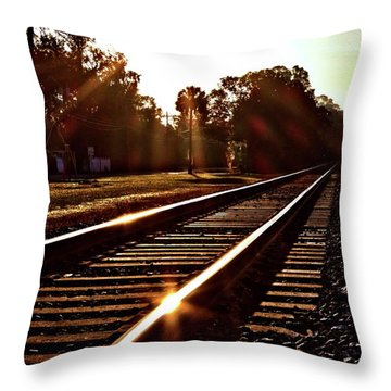 Traintastic Throw Pillow