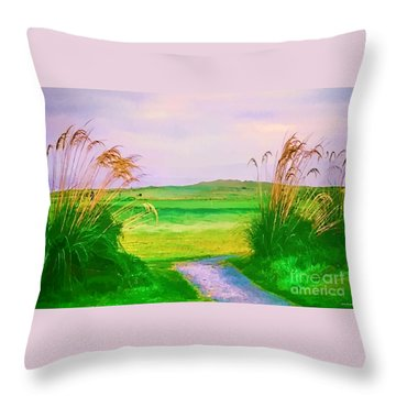 Tralee Ireland Water Color Effect Throw Pillow