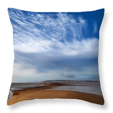 Tramore Strand And Town From The Dunes Throw Pillow
