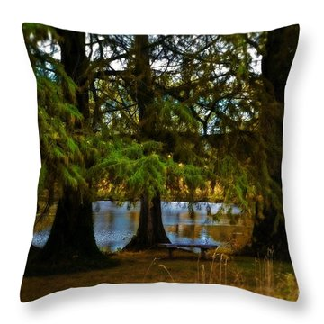Tranquil And Serene Throw Pillow