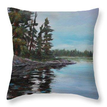 Tranquil Bay Throw Pillow
