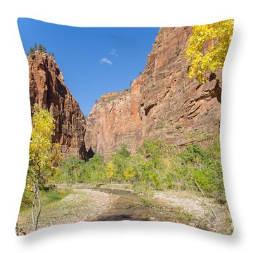 Throw Pillow featuring the photograph Tranquil Canyon Scene by John M Bailey
