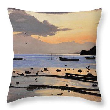 Tranquil Dawn Throw Pillow
