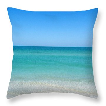 Throw Pillow featuring the photograph Tranquil Gulf Pond by David Nicholls