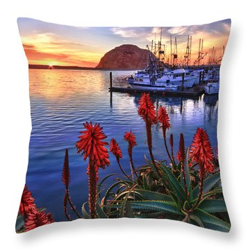Tranquil Harbor Throw Pillow by Beth Sargent