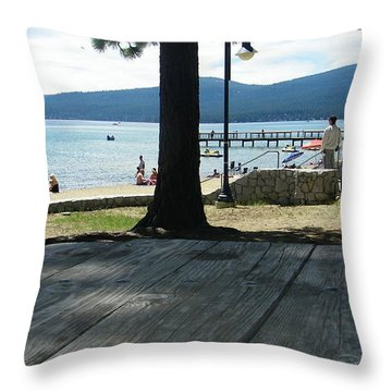 Throw Pillow featuring the photograph Tranquil Moment by Bobbee Rickard