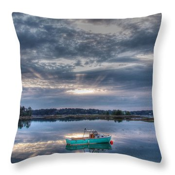 Tranquil Mooring Throw Pillow