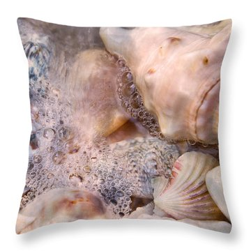 Tranquil Seashells Throw Pillow