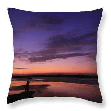 Tranquil Sky Throw Pillow