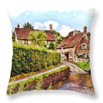 Tranquil Stream Lacock Throw Pillow