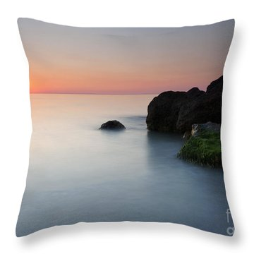 Tranquil Sunset Throw Pillow by Mike  Dawson