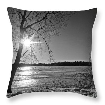 Tranquil Sunset Throw Pillow